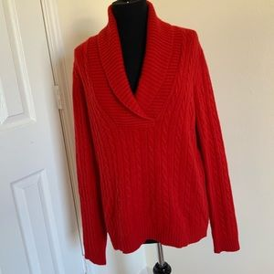 Ralph Lauren 100% cashmere red sweater XL